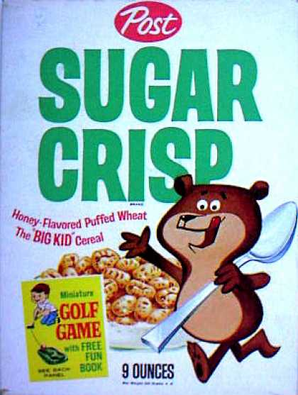 Cereal Boxes - Sugar Bear w/ spoon
