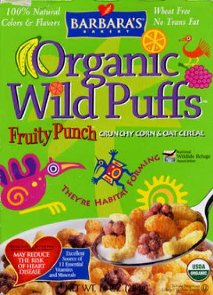 Cereal Boxes - Organic Wild Puffs