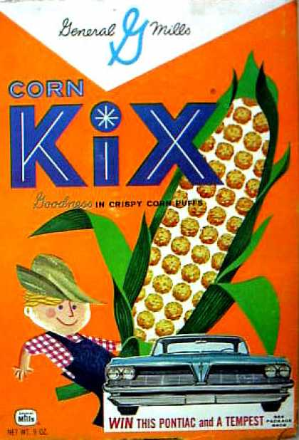 Cereal Boxes - Kid w/ corn