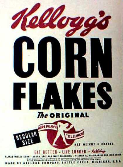 Cereal Boxes - Kellog's Cornflakes