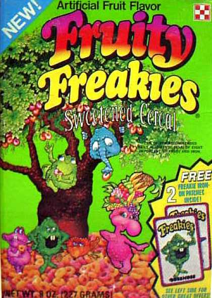 Cereal Boxes - Freakies in Tree
