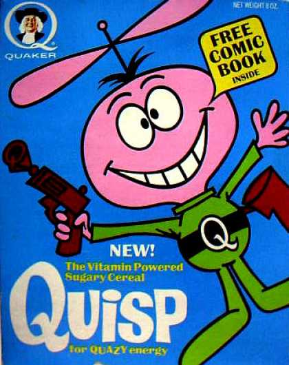 Cereal Boxes - Quisp w/ Raygun