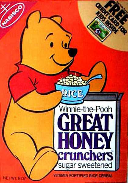 Cereal Boxes - Winnie the Pooh