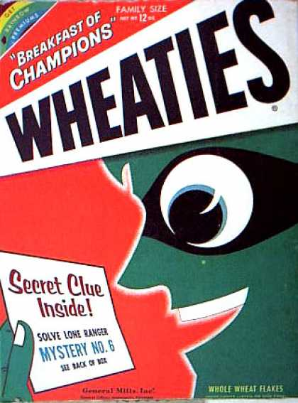 Cereal Boxes - Blue guy w/ mask