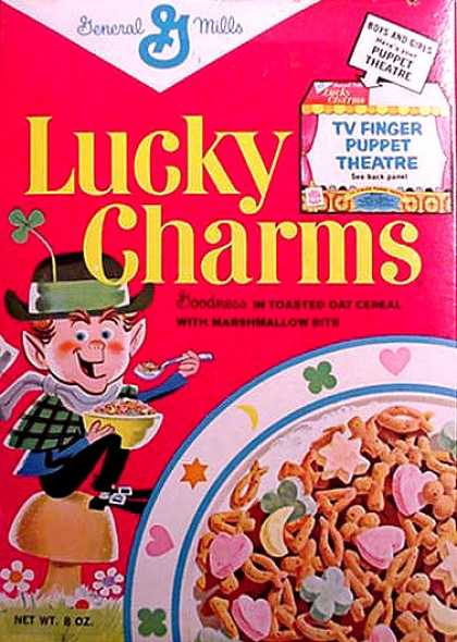 Cereal Boxes - first Lucky the Leprechaun