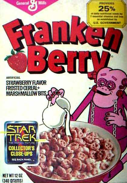 Cereal Boxes - Frankenberry pouring milk