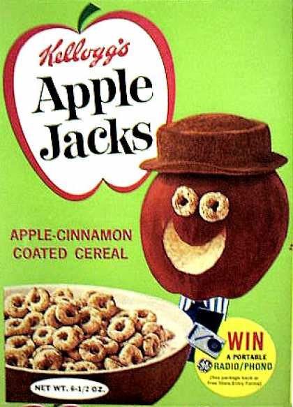 Cereal Boxes - Apple Head