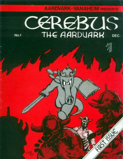 Cerebus 1 - Skeleton Soldiers - Hell - Grey Elephant - Mighty Sword - Trunk - Dave Sim