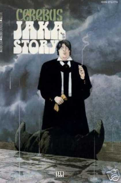 Cerebus 120 - Cigarette - Suit - Tie - Monster - Storm Clouds - Dave Sim