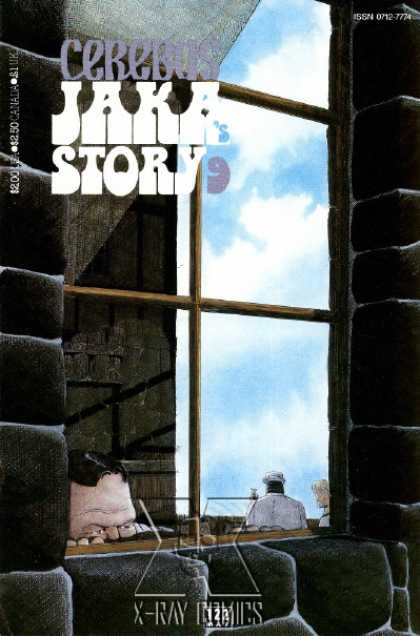 Cerebus 122 - Window - Peek - Stone - Shadow - Sky - Dave Sim