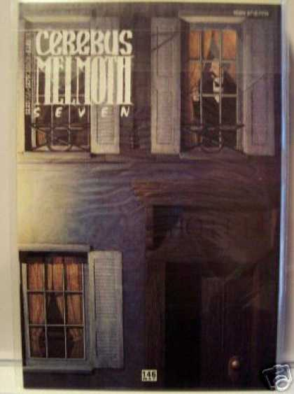 Cerebus 146 - Seven - Melmoth - Hotel With Man Looking Out Window - Man In Window Of Second Floor - Dave Sim