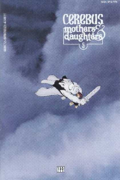 Cerebus 155 - Sword - Cloud - Falling - Hero - Dark - Dave Sim