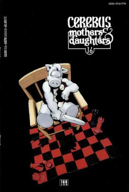 Cerebus 166 - Mothers U0026 Daughters - Chair - Chess - Sword - Doll - Dave Sim