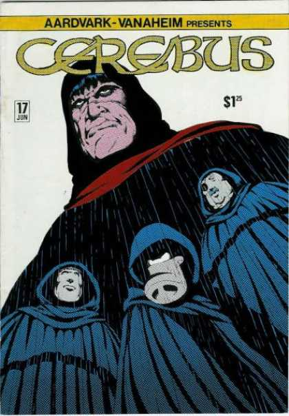 Cerebus 17 - June Issue - Men In Capes - Raining - 4 Angry Looking Men - Good Condition - Dave Sim
