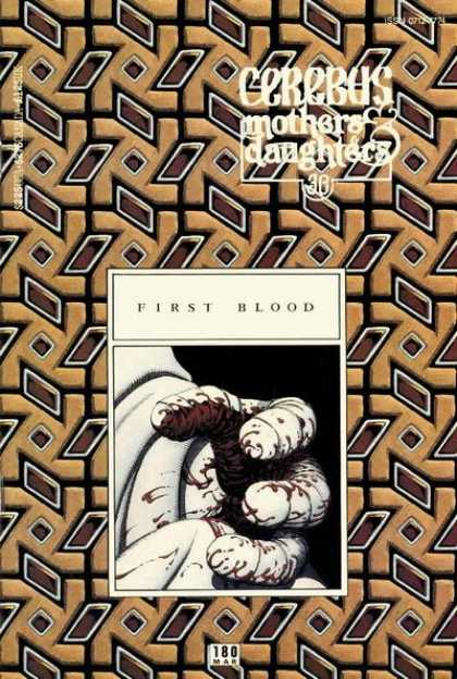 Cerebus 180 - Stubby Hand - Blood - Symbols - No Finger Nails - Bandages - Dave Sim