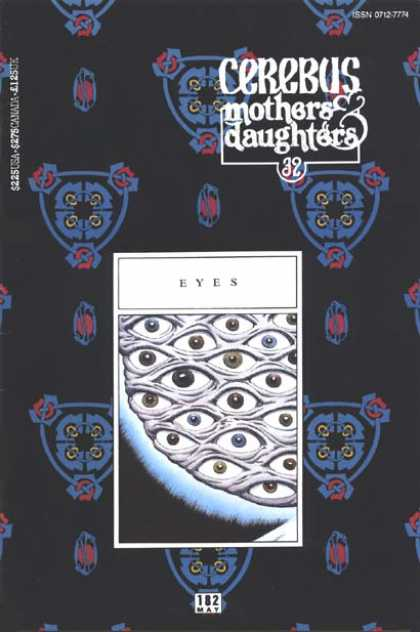 Cerebus 182 - Mothers U0026 Daughters - Eyes - Repeating Pattern - Symmetrical Graphic - May - Dave Sim