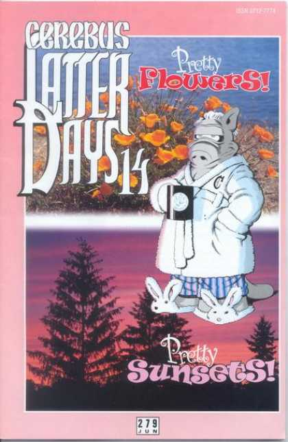 Cerebus 279 - Pretty Flowers - Latter Days 14 - Bunny Shoes - Tree - Pretty Sunsets