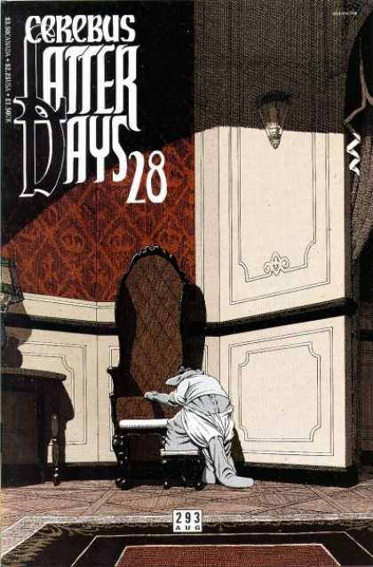 Cerebus 293 - Chair - Cerebus - Latter Days - 28 - Dark Room With Red Wall
