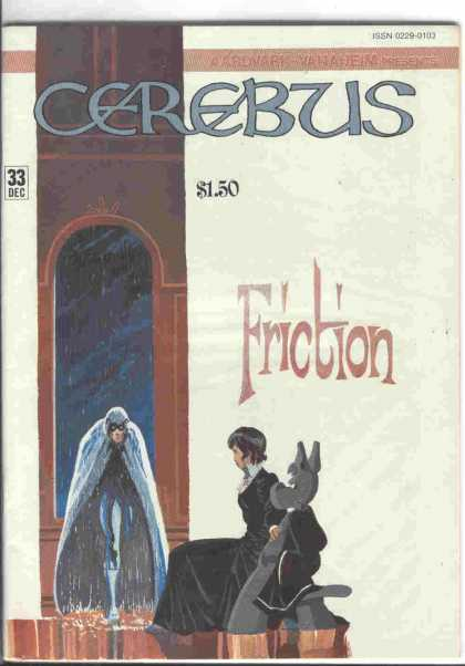 Cerebus 33 - Friction - Doorway - Lady Sitting - Dog - Capped Man - Dave Sim