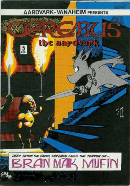 Cerebus 5 - Aardvark - Cerebus - Cerebus The Aardvark - Bran Mak Mufin - Deep Within The Earth - Dave Sim