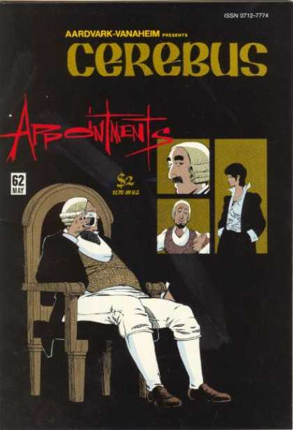 Cerebus 62 - Man - Window - Seat - Chair - Cup - Dave Sim