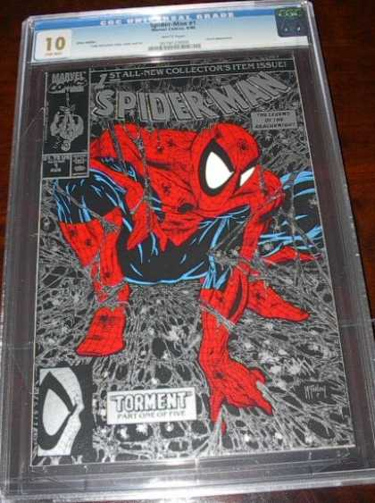 CGC 10 Comics - Spider-Man 1 (CGC) - Spiderman - Red - Torment - Glass - Spike