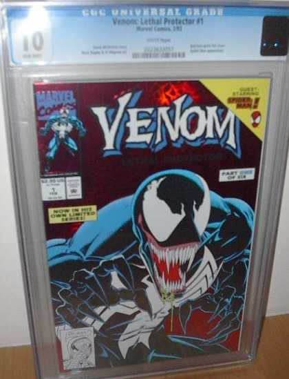 CGC 10 Comics - Venom (CGC) - Villian - Black - Alien Symbiote - Eddie Brock - Green Drool