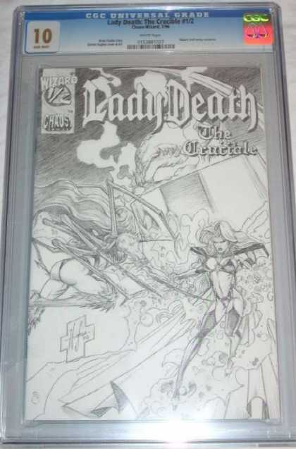 CGC 10 Comics - Lady Death (CGC) - Seal - Black And White - Death - Lady - Battle