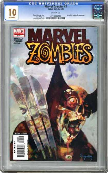 CGC 10 Comics 16 - Wolverine - Zombies - Claws - Marvel - Popped Eyeball