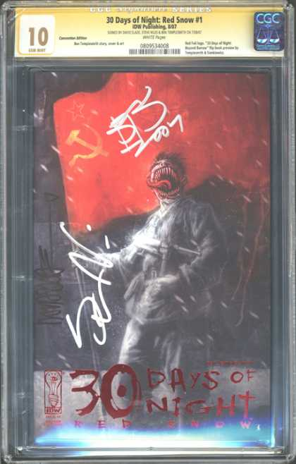 CGC 10 Comics 29 - Monster - 30 Days Of Night - Red Snow - Soviet - Signature