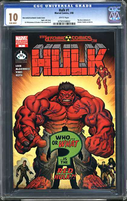 CGC 10 Comics 41 - Red Hulk - Torn Clothes - Hulk - Gun - Bystanders