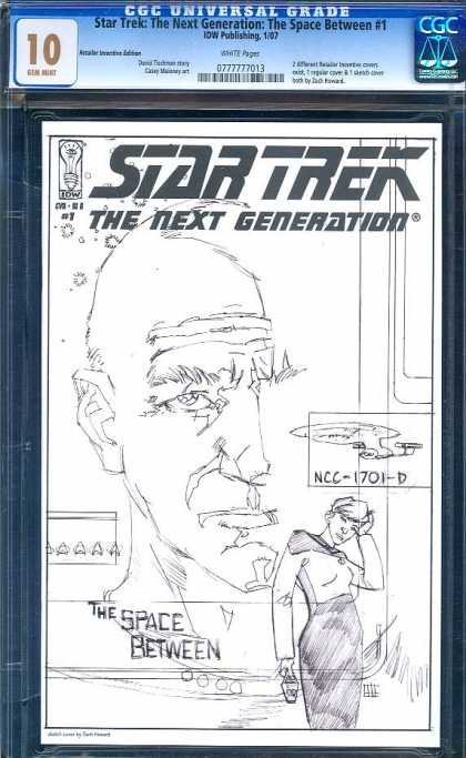 CGC 10 Comics - Star Trek: Next Generation (CGC) - Enterprise - Captain Picard - The Space Between - Star Trek The Next Generation - Federation