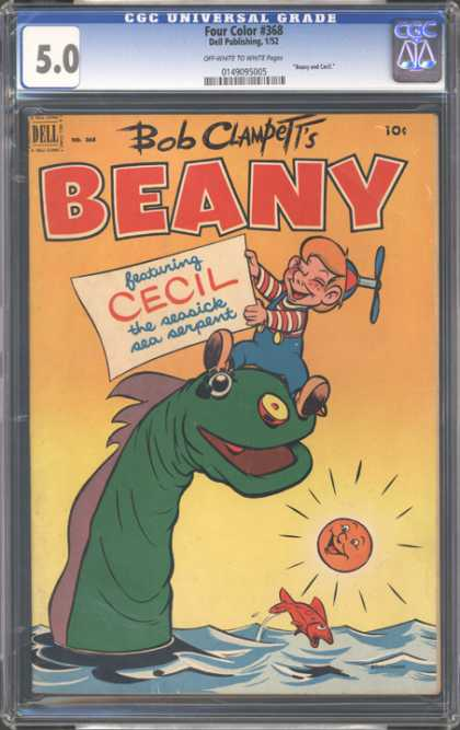 CGC Graded Comics - Four Color #368 (CGC) - Featuring Cecil - The Seasick Sea Serpent - Ocean - Laughing Sun - Frightened Fish