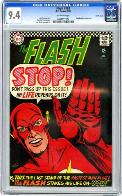 CGC Graded Comics - Flash #163 (CGC) - The Flash - Flash Returns - The New Flash Issue - Red Flash - Must See