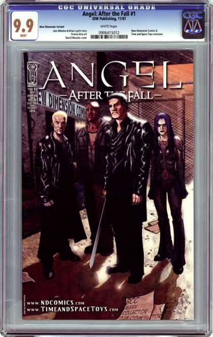 CGC Graded Comics - Angel: After the Fall #1 (CGC) - Wb - Show - Vampires - Channel 11 - Good Versus Evil