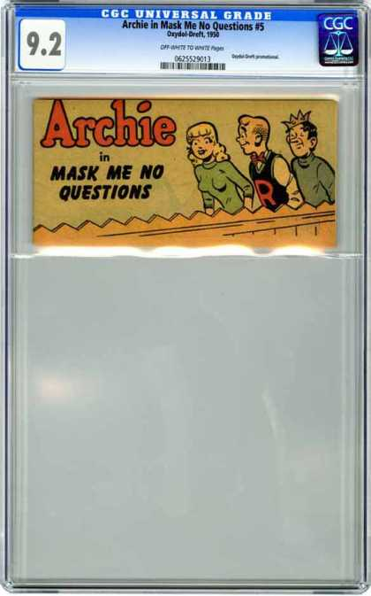 CGC Graded Comics - Archie in Mask Me No Questions #5 (CGC) - Archie - Mask Me No Questions - Boys - Girl - Fence