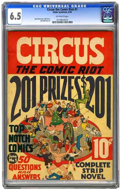 CGC Graded Comics - Circus the Comic Riot #1 (CGC) - Circus - The Comic Riot - Top Notch Comics - 50 Questions And Answers - Complete Strip Novel