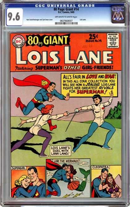 CGC Graded Comics - 80 Page Giant #14 (CGC) - Superman - Girl Friends - Lois Lane - Red Cape - Rivals