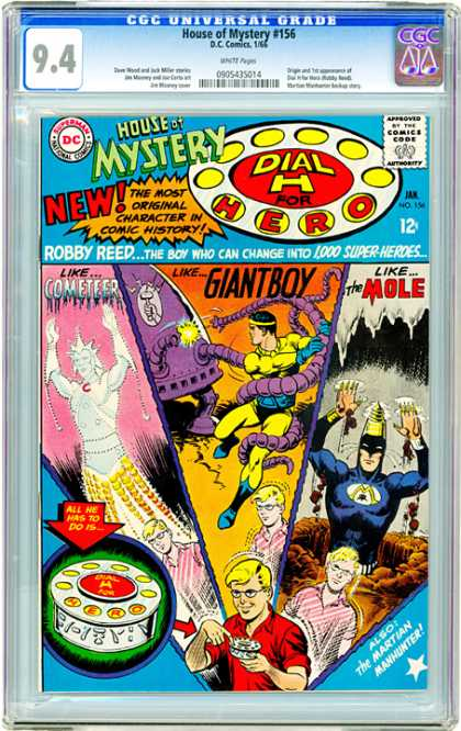 CGC Graded Comics - House of Mystery #156 (CGC) - House Of Mystery - New - Giantboy - Like Cometeer - Like Mole