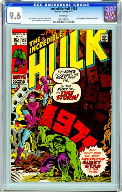 CGC Graded Comics - Incredible Hulk #135 (CGC)