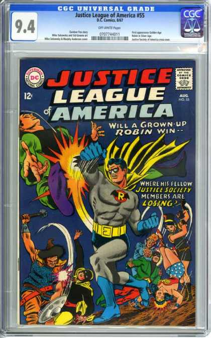 CGC Graded Comics - Justice League of America #55 (CGC)