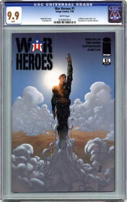 CGC Graded Comics - War Heroes #1 (CGC) - Clouds - Sun - Image - Uniform - Sky
