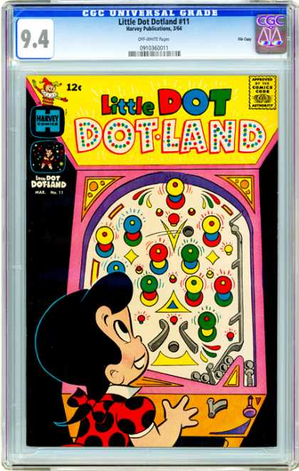 CGC Graded Comics - Little Dot Dotland #11 (CGC) - Girl - Pachinko Machine - Colorful - Polka Dots - Hair Ribbon