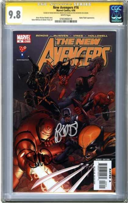 CGC Graded Comics - New Avengers #16 (CGC)