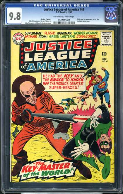CGC Graded Comics - Justice League of America #41 (CGC) - Justice League Of America - Superman National Comics - Approved By The Comics Code - Superman - Flash
