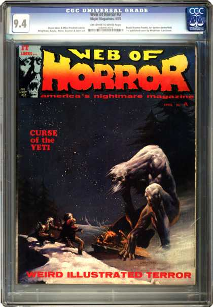 CGC Graded Comics - Web of Horror #3 (CGC) - Yeti - Horror - Giant Beast - Night Sky - Trees