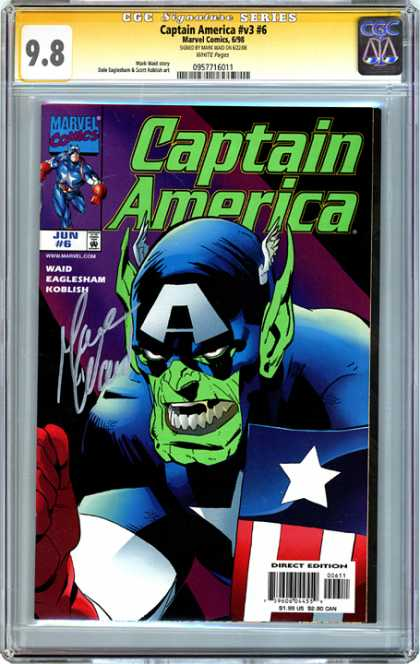 CGC Graded Comics - Captain America #v3 #6 (CGC) - Captain America - Marvel Comics - Waid - Eaglesham - Koblish