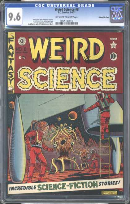 CGC Graded Comics - Weird Science #8 (CGC) - Weird Science - Dc Comics - Space Suite - Ladder - Alien