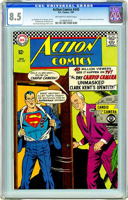CGC Graded Comics - Action Comics #345 (CGC)