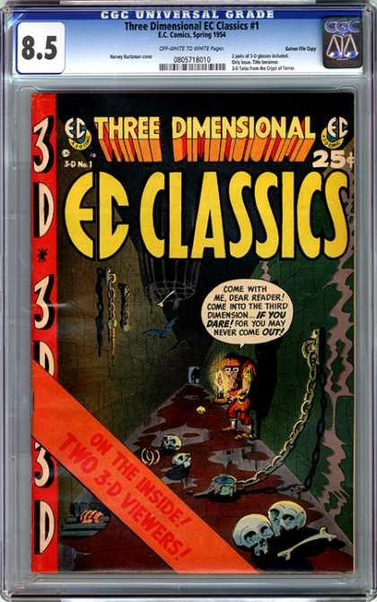 CGC Graded Comics - Three Dimensional EC Classics #1 (CGC) - Three Dimensional Ec Classics - Chains - Skulls - Bones - Dungeon